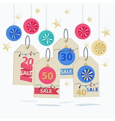 Set of colorful new year sale labels vector