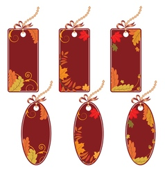 set of the autumnal price tags vector image vector image