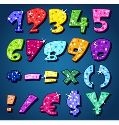 sparkling numbers vector image vector image