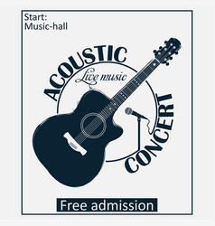 Acoustic musical concert poster vector
