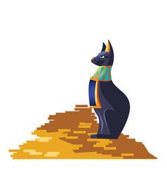 Ancient egypt cartoon set vector