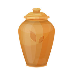 antique vase traditional and interior decorative vector image