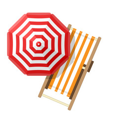 beach umbrellas top view on white background vector image