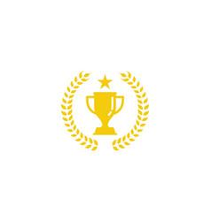 beer trophy logo icon design vector image