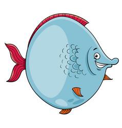 Big fish cartoon character vector