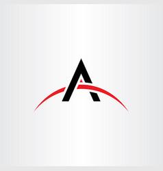 black red a symbol letter logo logotype vector image