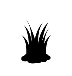 black silhouette of lawn grass icon on white vector image