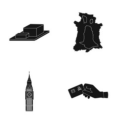 bones travel and or web icon in black style vector image