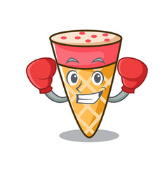 Boxing ice cream tone character cartoon vector