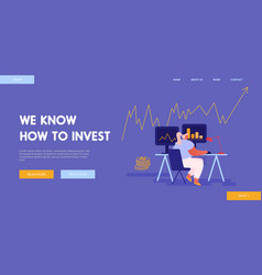 broker service bulls and bears fund landing page vector image