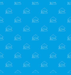 bungalow pattern seamless blue vector image