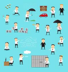 businessman office worker manager or clerk vector image