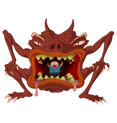 cannibal monster vector image