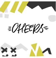 Cheers lettering design vector