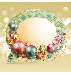 christmas vintage bubble vector image