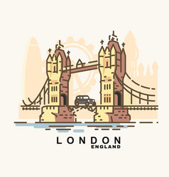city london in outline style vector image