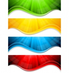 collection abstract banners vector image