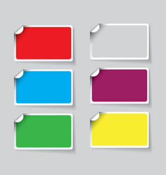 Colorful paper sticker vector