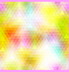 Colorful triangle polygon and seamless background vector