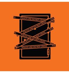 Crime scene door icon vector