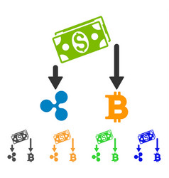 Cryptocurrency cashflow icon vector