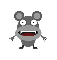 cute grey mouse vector image