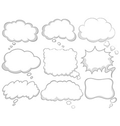 Different design of dream bubbles vector