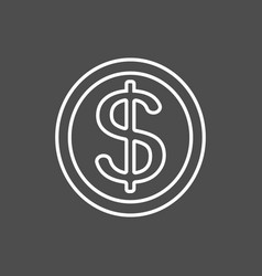 Dollar money icon vector