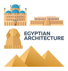egyptian architecture modern flat design vector image