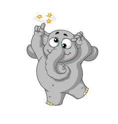 elephant character gone crazy insane cartoon vector image vector image