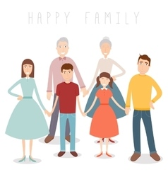 Family portrait Traditional family vector