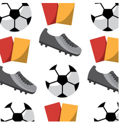football soccer pattern image vector image