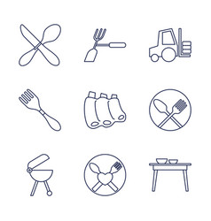 Fork icons vector