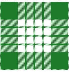 green and white tartan plaid scottish pattern vector image