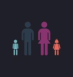 Happy Family computer symbol vector