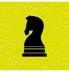 horse chess design vector image
