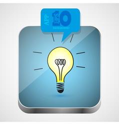 Idea app icon vector