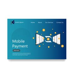 internet online mobile payment service concept vector image
