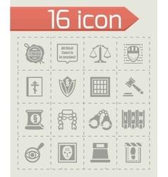 Justice icon set vector