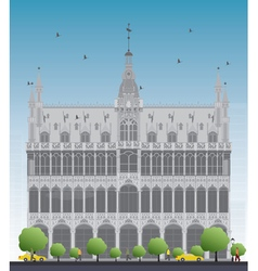 King house in brussels vector
