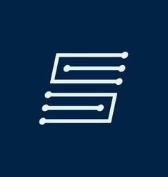 Letter s font maze italic geometric vector