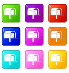 Mailbox set 9 vector