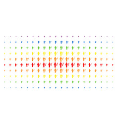 Medic spectrum halftone pattern vector