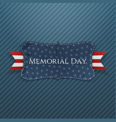 Memorial Day festive Label and Ribbon vector