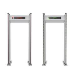 metal detector frames security gates vector image
