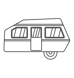 Modern camp trailer icon outline style vector