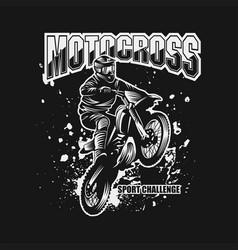 Motocross sport challenge vector