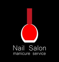 nail salon manicure vector image
