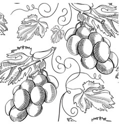 organic fresh sketch seamless pattern vector image