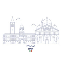 padua city skyline vector image